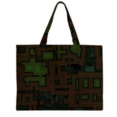 Circuit Board A Completely Seamless Background Design Large Tote Bag