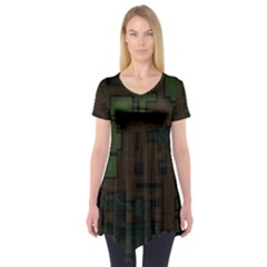 Circuit Board A Completely Seamless Background Design Short Sleeve Tunic