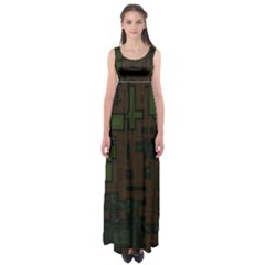 Circuit Board A Completely Seamless Background Design Empire Waist Maxi Dress