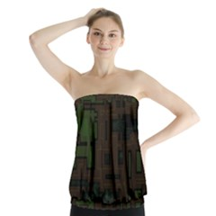 Circuit Board A Completely Seamless Background Design Strapless Top