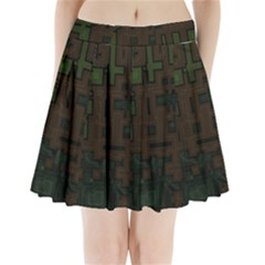 Circuit Board A Completely Seamless Background Design Pleated Mini Skirt