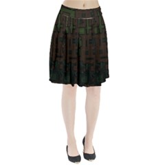 Circuit Board A Completely Seamless Background Design Pleated Skirt