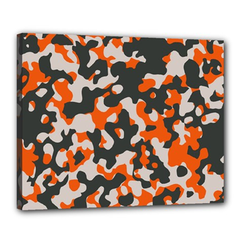 Camouflage Texture Patterns Canvas 20  X 16