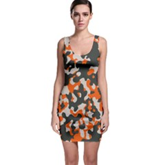 Camouflage Texture Patterns Sleeveless Bodycon Dress