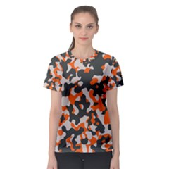 Camouflage Texture Patterns Women s Sport Mesh Tee