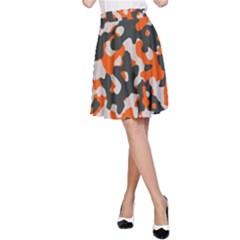 Camouflage Texture Patterns A-Line Skirt