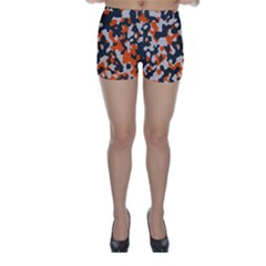Camouflage Texture Patterns Skinny Shorts