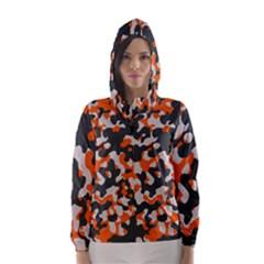 Camouflage Texture Patterns Hooded Wind Breaker (women)