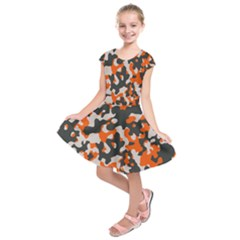Camouflage Texture Patterns Kids  Short Sleeve Dress