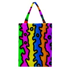 Digitally Created Abstract Squiggle Stripes Classic Tote Bag