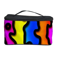 Digitally Created Abstract Squiggle Stripes Cosmetic Storage Case