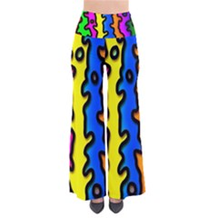 Digitally Created Abstract Squiggle Stripes Pants