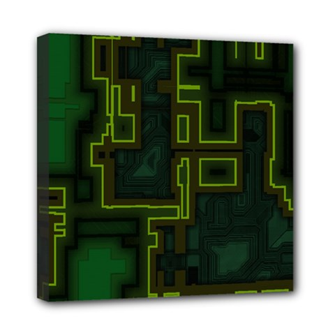 A Completely Seamless Background Design Circuit Board Mini Canvas 8  X 8