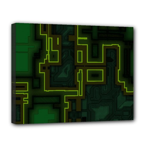 A Completely Seamless Background Design Circuit Board Canvas 14  X 11