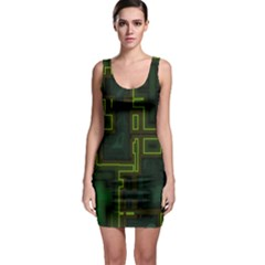 A Completely Seamless Background Design Circuit Board Sleeveless Bodycon Dress