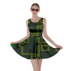 A Completely Seamless Background Design Circuit Board Skater Dress