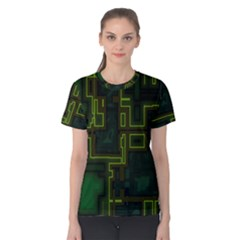 A Completely Seamless Background Design Circuit Board Women s Cotton Tee