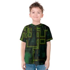 A Completely Seamless Background Design Circuit Board Kids  Cotton Tee
