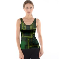 A Completely Seamless Background Design Circuit Board Tank Top