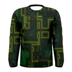 A Completely Seamless Background Design Circuit Board Men s Long Sleeve Tee