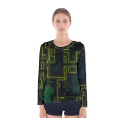A Completely Seamless Background Design Circuit Board Women s Long Sleeve Tee