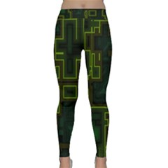 A Completely Seamless Background Design Circuit Board Classic Yoga Leggings