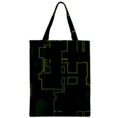 A Completely Seamless Background Design Circuit Board Zipper Classic Tote Bag