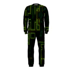 A Completely Seamless Background Design Circuit Board Onepiece Jumpsuit (kids)