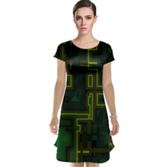 A Completely Seamless Background Design Circuit Board Cap Sleeve Nightdress