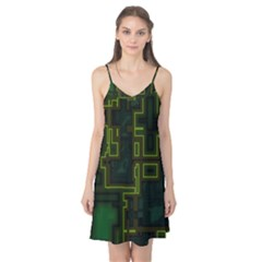 A Completely Seamless Background Design Circuit Board Camis Nightgown