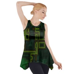 A Completely Seamless Background Design Circuit Board Side Drop Tank Tunic