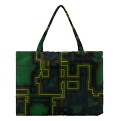 A Completely Seamless Background Design Circuit Board Medium Tote Bag