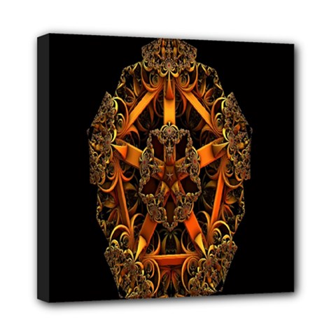 3d Fractal Jewel Gold Images Mini Canvas 8  X 8