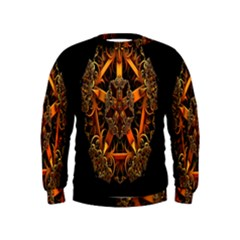 3d Fractal Jewel Gold Images Kids  Sweatshirt