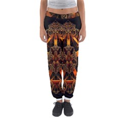 3d Fractal Jewel Gold Images Women s Jogger Sweatpants