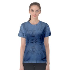 Zoom Digital Background Women s Sport Mesh Tee