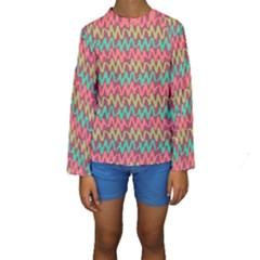 Abstract Seamless Abstract Background Pattern Kids  Long Sleeve Swimwear