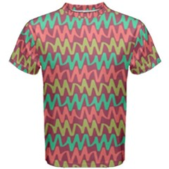 Abstract Seamless Abstract Background Pattern Men s Cotton Tee
