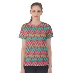 Abstract Seamless Abstract Background Pattern Women s Cotton Tee