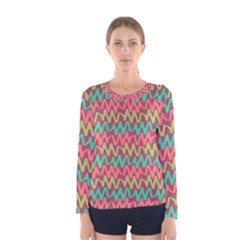 Abstract Seamless Abstract Background Pattern Women s Long Sleeve Tee