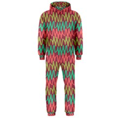 Abstract Seamless Abstract Background Pattern Hooded Jumpsuit (Men)
