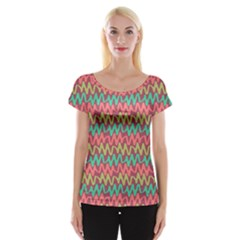 Abstract Seamless Abstract Background Pattern Women s Cap Sleeve Top
