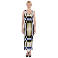 Colorful Seamless Pattern Vibrant Pattern Fitted Maxi Dress