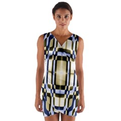 Colorful Seamless Pattern Vibrant Pattern Wrap Front Bodycon Dress