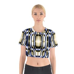 Colorful Seamless Pattern Vibrant Pattern Cotton Crop Top