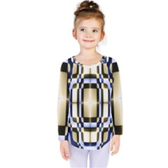 Colorful Seamless Pattern Vibrant Pattern Kids  Long Sleeve Tee