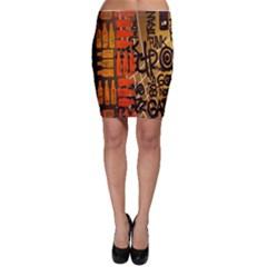Graffiti Bottle Art Bodycon Skirt