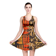Graffiti Bottle Art Reversible Skater Dress