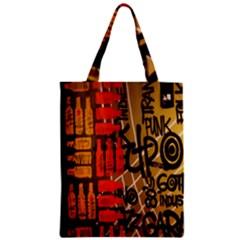 Graffiti Bottle Art Zipper Classic Tote Bag