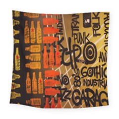 Graffiti Bottle Art Square Tapestry (large)